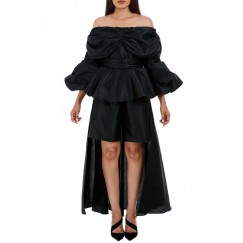 Black bella short jumpsuit