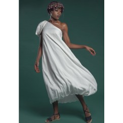 One Shoulder Dress White