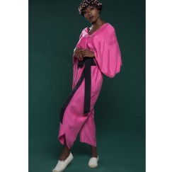 Jumpsuit with Cape pink