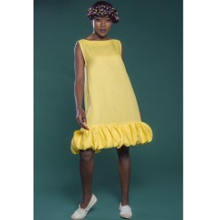 Tent Style Sleeveless Dress Yellow