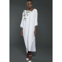 Embellished Kaftan White