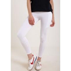 سروال ضيق أبيض