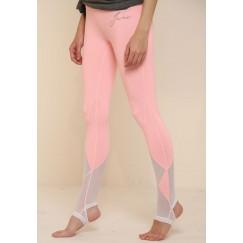 سروال ضيق ذو عروة قدم وردي