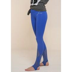 سروال ضيق ذو عروة قدم أزرق