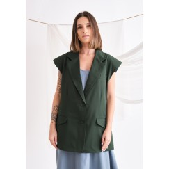Tailored Green Vest