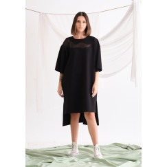 Black Oversized T-shirt Dress