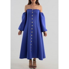 Autumn blue dress