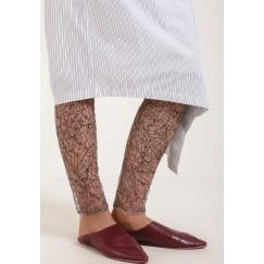 لفافة ساق باللون الأسود