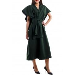 فستان سادة أخضر