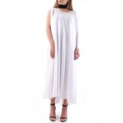 فستان رائع بكتف واحد بلون أبيض