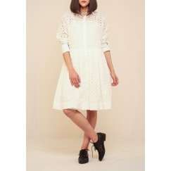 Breezelocks offwhite dress