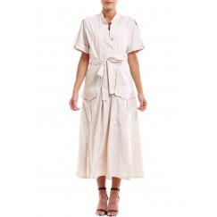 فستان قطني بيج