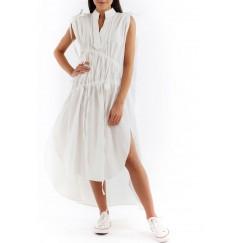 Strap shirt dress