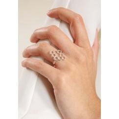 Nectar rhodium plated ring
