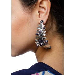 Corallo XL Earrings (White Gold)