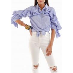 Ruffled shirt top