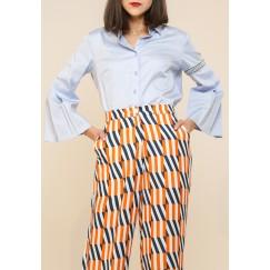 Kanika Goyal Label - Sheer blocked shirt
