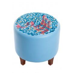 كرسي دائري أزرق فاتح