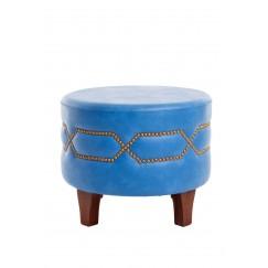 كرسي دائري أزرق سماوي