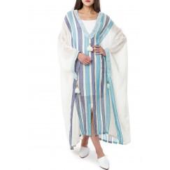 فستان بنمط مربعات متعدد الالوان