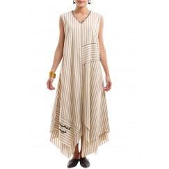 فستان كتبة مبطن بيج