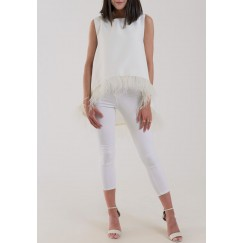 Feather Top Offwhite