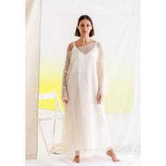 فستان أوف-وايت شبكي ماكسي