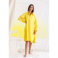 فستان ليموني بوردة فوشية على الظهر