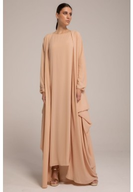 Georgette Draped Abaya with Classic Sleeves