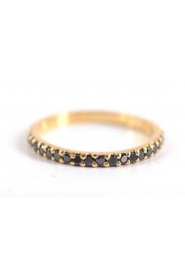 خاتم من الألماس الأسود ناكل (ورد ذهبي)