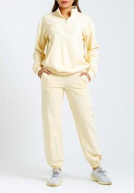 بدلة رياضة ليمونية توب وبنطال