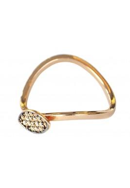 خاتم المكوك من الماس البني