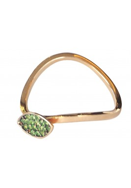 خاتم المكوك من عقيق الجارنت
