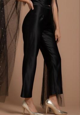 Classic Cigarette Satin Silk Pants