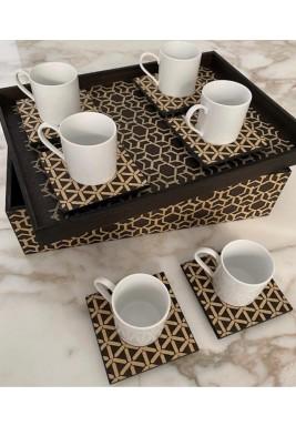 طقم قهوة تركي من 6 قطع