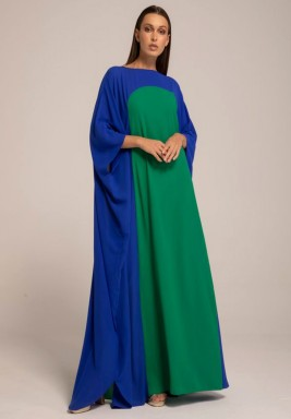 Blue Two-toned Mariposa Kaftan