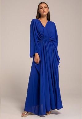 Georgette Blue waist Draw Shy Kaftan