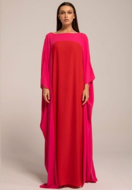 Hot Pink Two-toned Mariposa Kaftan