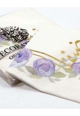 محارم مطبوعة نمط الزهور 40*40*ثلاث طبقات*20 حبة