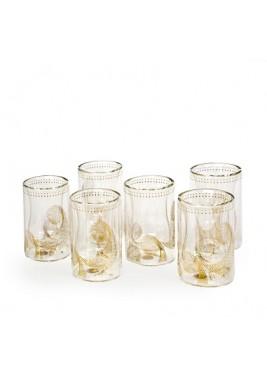 مجموعة زجاجية من قطعتين للشاي