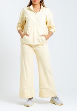 Retro Straight Leg Lemon Training Suit
