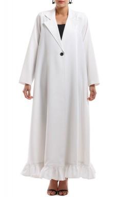 فستان عباية أبيض