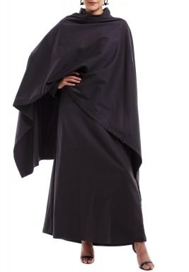 فستان عباية ملتف برقبة دائرية