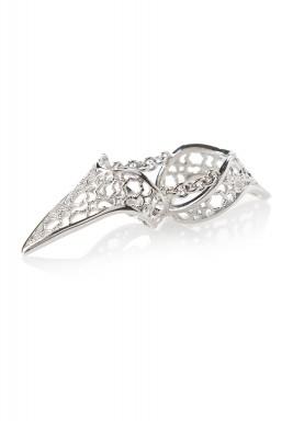 خاتم ملكي مفرّغ باللون الفضي