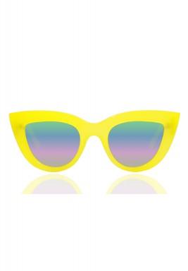 نظارة كيتي الشمسية باللون الأصفر