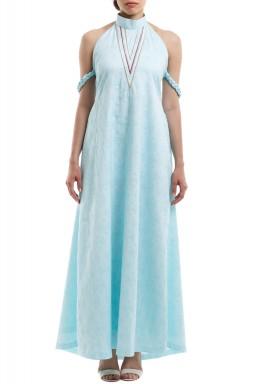 فستان رابونزيل سماوي