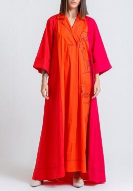 فستان فرايا 3 ألوان مطرز بوجوه