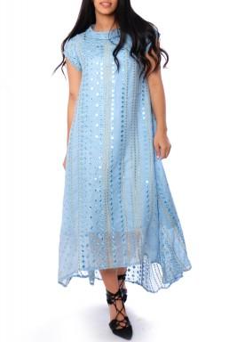 فستان لامع - أزرق