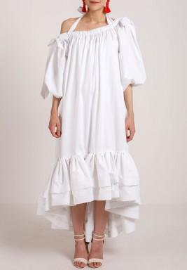 فستان هاي-لو أبيض