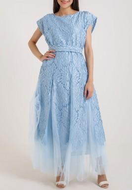 فستان الزهور الأزرق